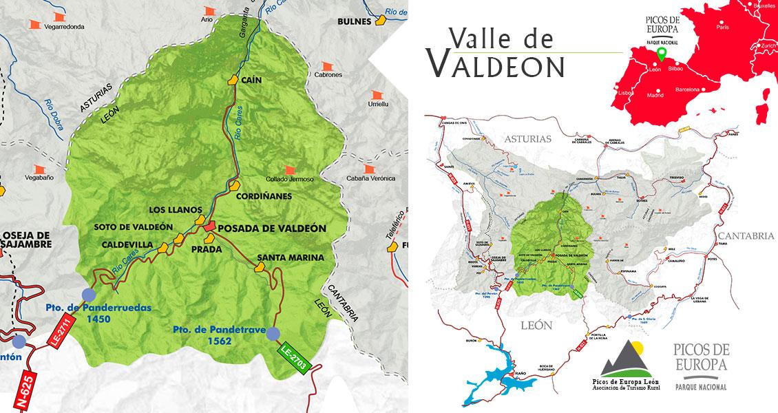 Mapa del Valle de Valdeón