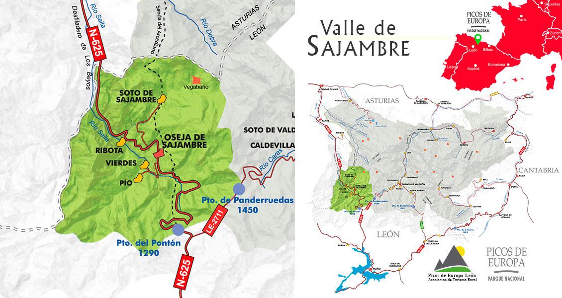 Mapa Valle de Sajambre
